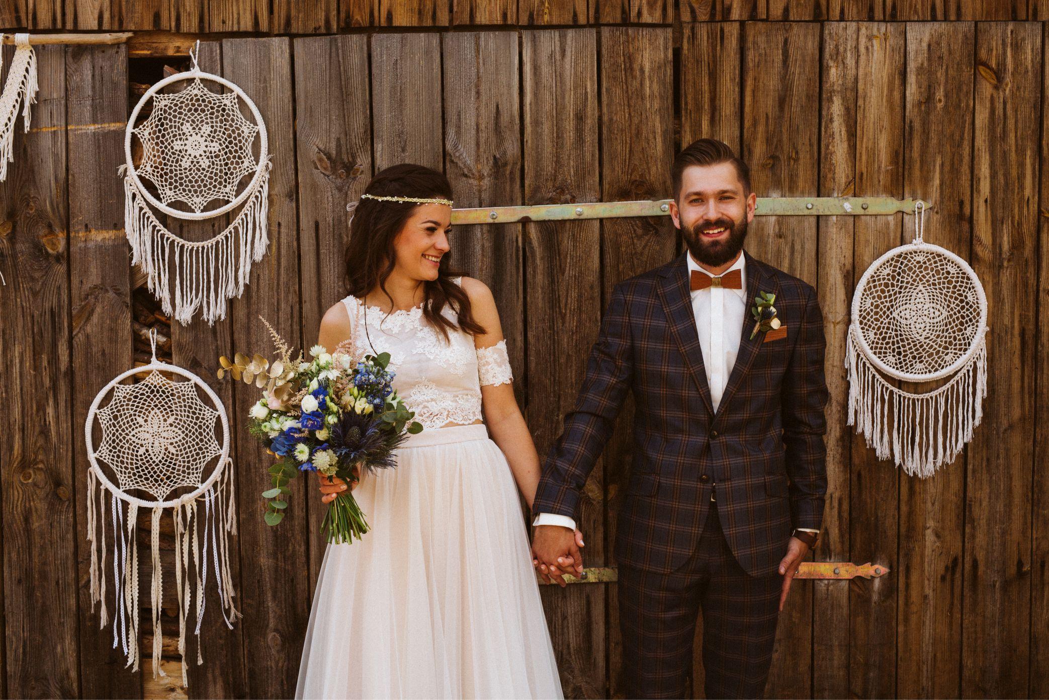 ślub w stylu rustykalnym, inspiracje ślubne