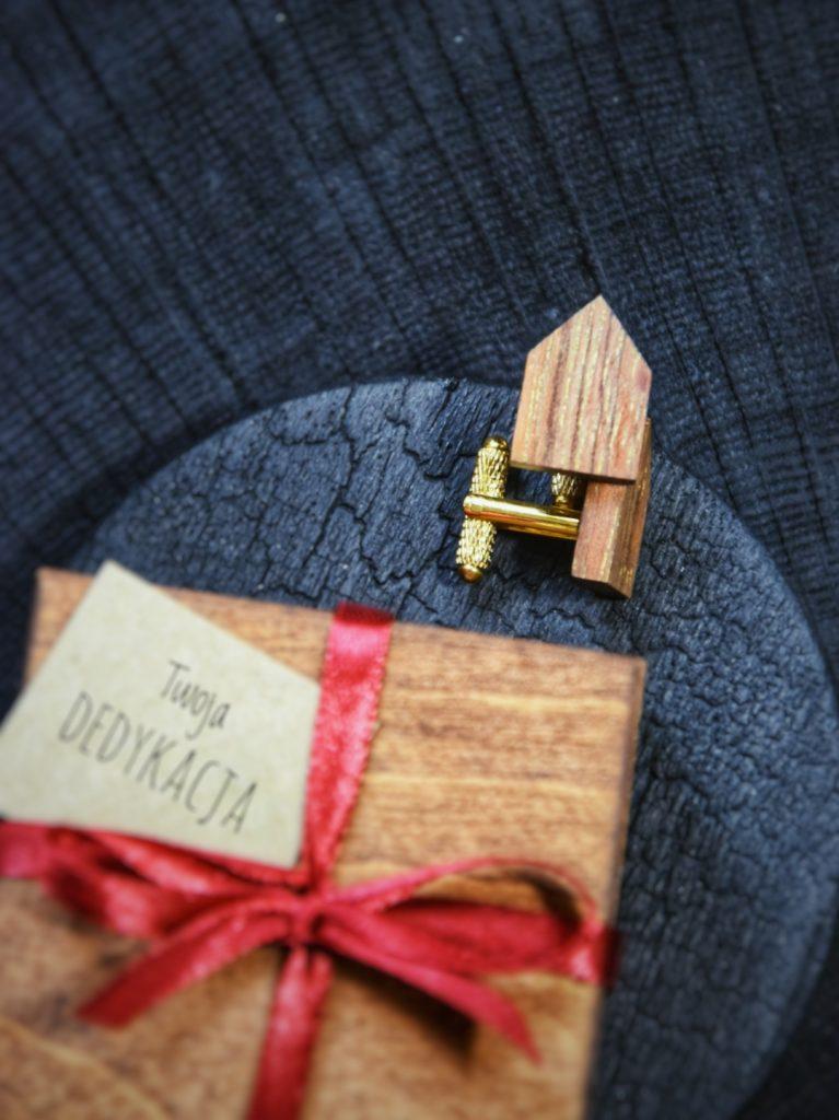 Drewniane spinki do koszuli prezent dla mężczyzny
