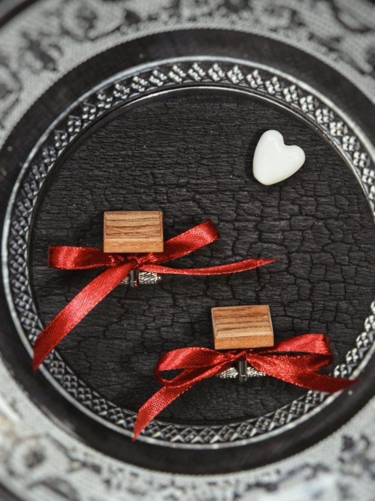 Spinki dla mężczyzny na prezent Walentynki